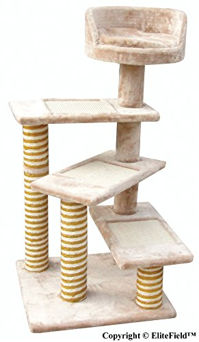 EliteField Cat Tree, Scratcher Furniture Condo House, Multiple (22' L x 22' W x 40' H)