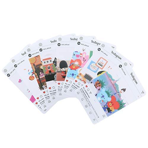 Youyouchard BTS Bangtan Boys Love Yourself 结Answer BTS Photocards Kpop BTS Transparent Cards TPU Bangtan Boys Suga Jimin Jungkook Photo (H21: (8PCS))