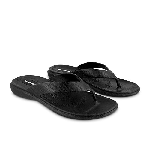 Okabashi Women's Maui Flip Flops - Sandals Black (Aspire Sandals)