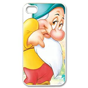 Dwarfs, Rubber Phone Cover Case For iPhone 4, iphone 4s Cases, Black / White