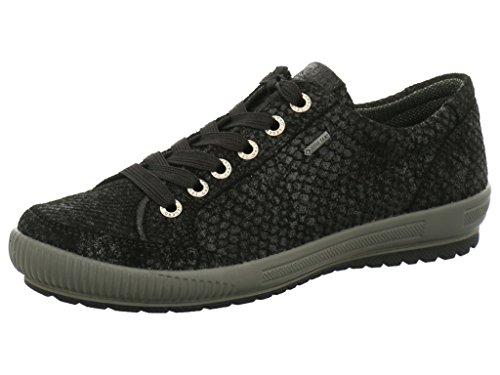 Legero Tanaro, low-top zapatillas deportivas de mujer, color Negro, talla 43