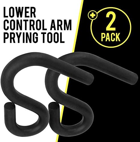 2 PACK LOWER CONTROL ARM PRYING TOOL, SUSPENSION SPECIALTY BUSHING TOOL DESIGNED TO WORK WITH A 7/8 IN. DIAMETER PRY BAR BY MISSION AUTOMOTIVE