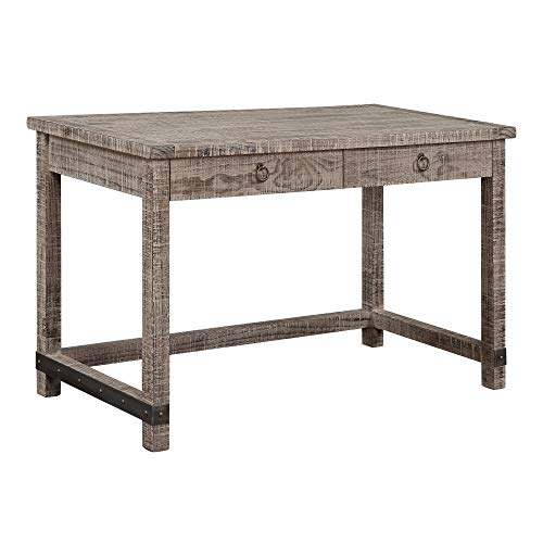 (Arturo Desk in Antique Brown with Reclaimed Pine Top And Metal Hardware, by Artum Hill)