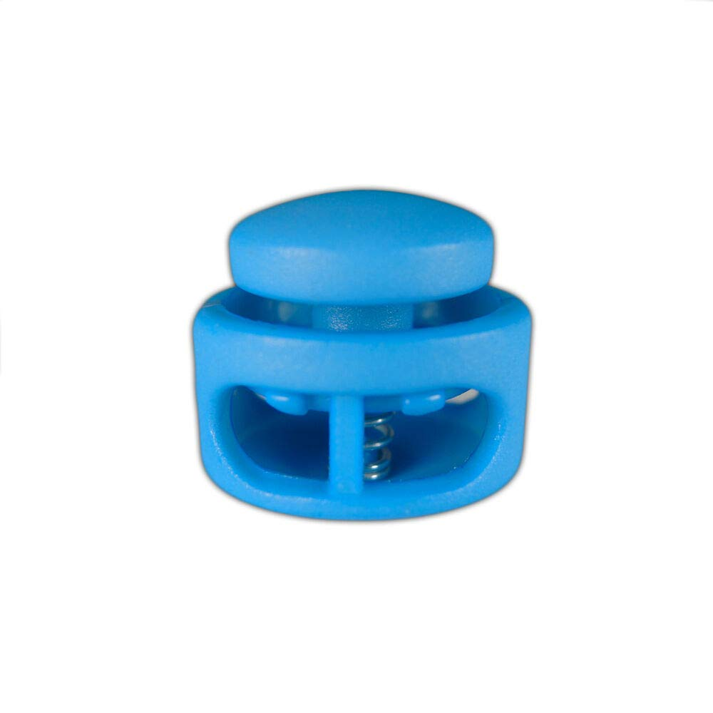 New tm Double Barrel Cord Lock Toggle Stoppers Package (Light Blue, 50) by rwtm