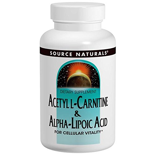 Source Naturals, Acetyl L-Carnitine & Alpha Lipoic Acid, 650 mg, 60 Tablets - 3PC by Source Naturals