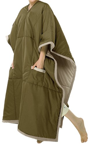 Blue Ridge Home Fashion Softie 48-Inch by 90-Inch Overwrap Throw, Olive