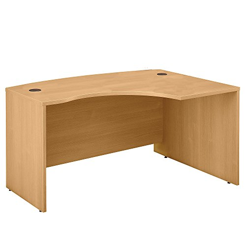 Bush Business Furniture Series C Collection 60W x 43D Right Hand L-Bow Desk Shell in Light (Worksurface Light)