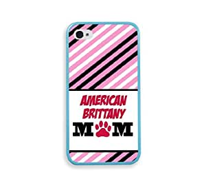 American Brittany Mom Aqua Silicon Bumper iPhone 4 Case Fits iPhone 4 & iPhone 4S
