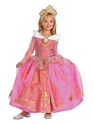 Storybook Aurora Prestige Costume - Medium (Storybook Beauty Costume)