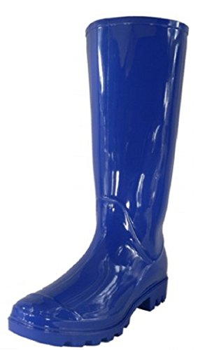 - Shoes 18 Womens Classic Rain Boot with Buckle (8, Royal Blue Rain)