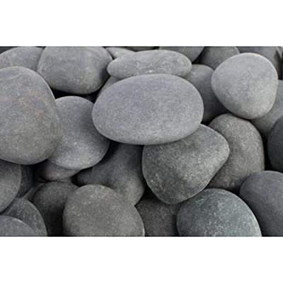 Rainforest RFGMBP3-30 Beach Pebble, Medium, Grey : Garden & Outdoor