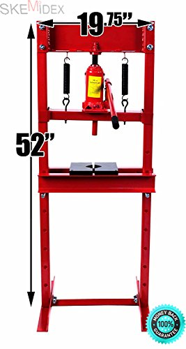 SKEMIDEX---12 Ton Hydraulic Floor Standing Shop Press | Heavy Duty Open Front & Rear Design lowes air compressors on sale portable air compressors sears air compressors harbor freight campbell hausfel