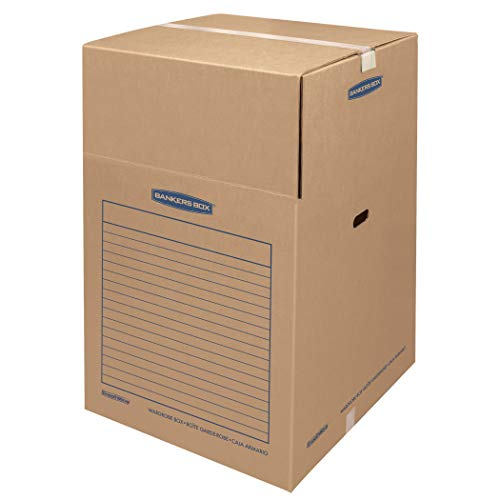 Bankers Box SmoothMove Wardrobe Box Large, 3 Pack (8811001) (Coat Moving Box)