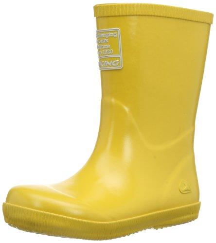 Viking Classic Indie Unisex Kinder Langschaft Gummistiefel Gelb (Yellow 13)