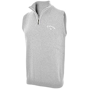 Amazon.com : 2014 Callaway Zip Neck Golf Sweater Vest Wool Tank ...