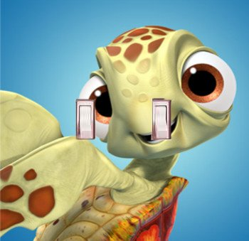 GOT YOU COVERED FINDING NEMO 3 DORY AND FRIENDS LIGHT SWITCH COVER OR OUTLET ((OPTION2) 2X TOGGLE) by Got You Covered