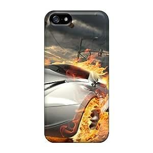 New Design Shatterproof LvHWQxN2176onJXW Case For Iphone 5/5s (flames Cars Race)
