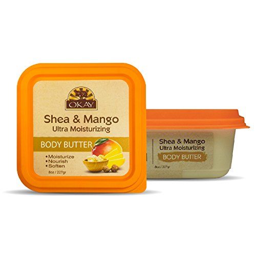 Butter Moisturizing Ultra Body (OKAY Shea & Mango Ultra Moisturizing Body Butter, 8 Ounce)