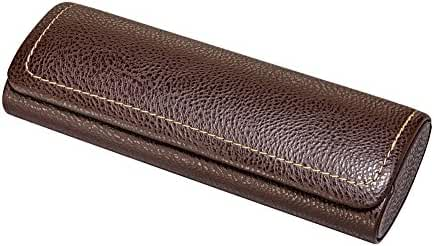 Hard Shell Eyeglass Case For Small To Medium Frames, Tailored And Padded Faux Leather