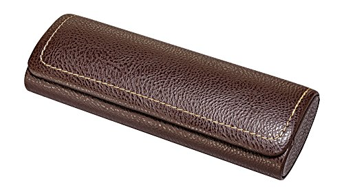 Glasses Case For Men, Women, Hard Eyeglass Case W/ Magnetic Closure In Faux Leather, - Eyeglasses Faux