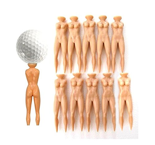 Qingsun 10pcs Naked Lady Nude Golf Tees Perfect Novelty Golf Gift and Golf Gag Gift