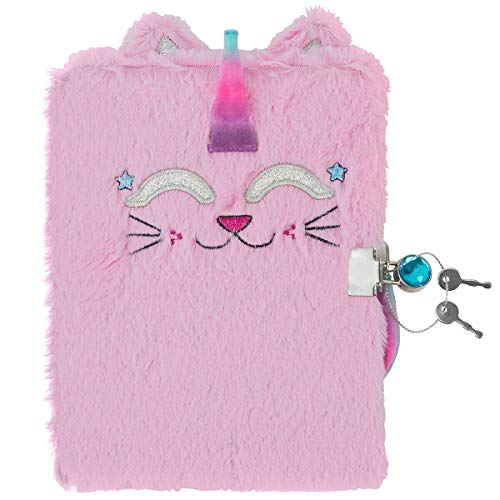3C4G Caticorn Plush Children's Journal with Sparkling Gem Lock (36209)