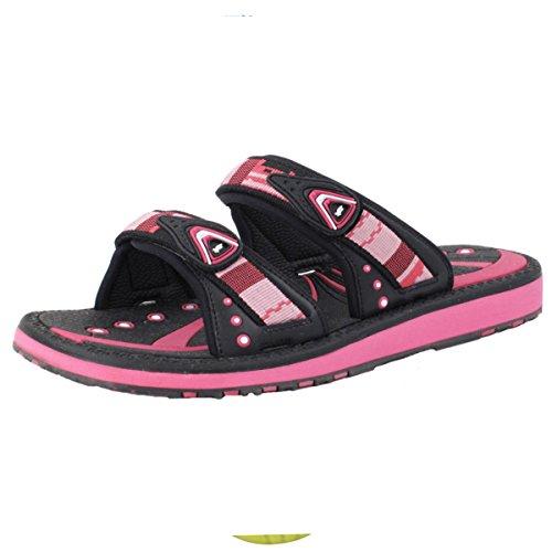 Gold Pigeon Shoes GP6888 Adjustable Slide Sandals: 8550 Fuchsia, EU38