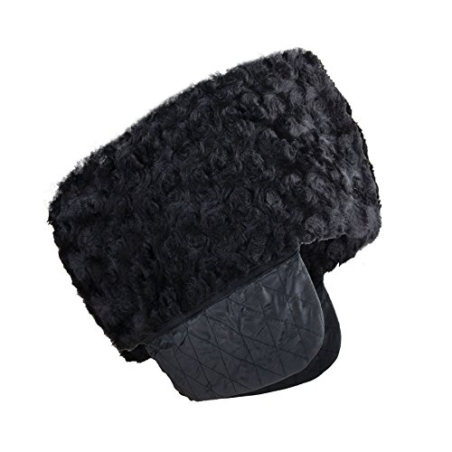 (SANREMO Men's Warm Imitation Persian lamb Fleece Russian Style Cossack Hat (Large))