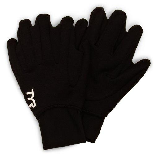 TYR 1TGLO6AL Neoprene Swim Gloves, Black, Large ()