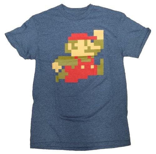 Men's Nintendo Super Mario Bros 8-Bit Pixel Sprite T-Shirt, L to 3XL