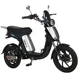 GIGABYKE GROOVE 48V 750W Eco-Friendly Electric Moped Scooter E-Bike- Silver