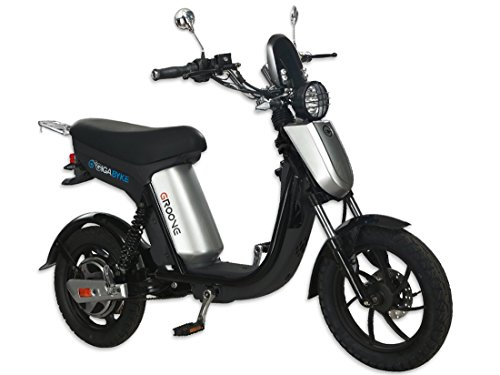 Street Legal Leather (GigaByke Groove - 750W Electric Motorized Bike (Silver))