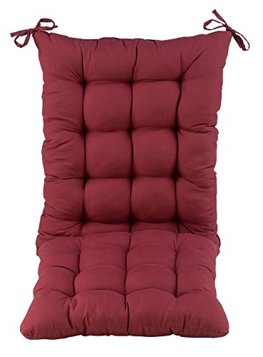 Microfiber Rocking Chair Cushions OakRidge Comforts, Set of 2 (Red Outdoor Cushions Chair Rocking)