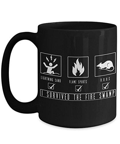 Princess Bride Mug - I Survived the Fire Swamp - Black 15oz