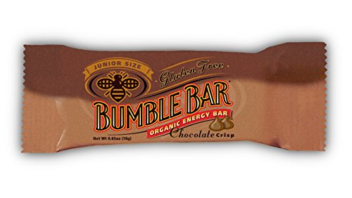 BumbleBar Gluten Free Junior Chocolate Crisp, 0.65-Ounce Bars (Pack of 12)