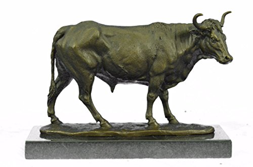Handmade European Bronze Sculpture ART DECO Spanish Fighting Bull stamped Spain Europe Figurine NR Bronze Statue -1X-AL-204-Decor Collectible Gift by Bronzioni