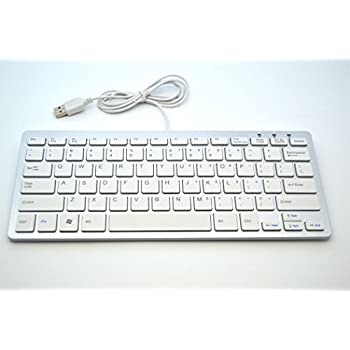 aluminum mini slim usb wired keyboard for pc computer imac macbook windows 7 8. Black Bedroom Furniture Sets. Home Design Ideas