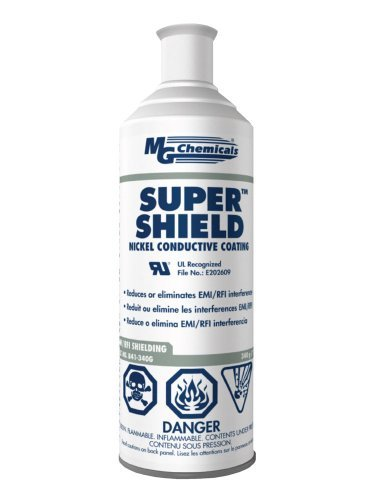 MG Chemicals 841 Super Shield Nickel Conductive Coating, 340g (12 Oz) Aerosol Can by MG Chemicals