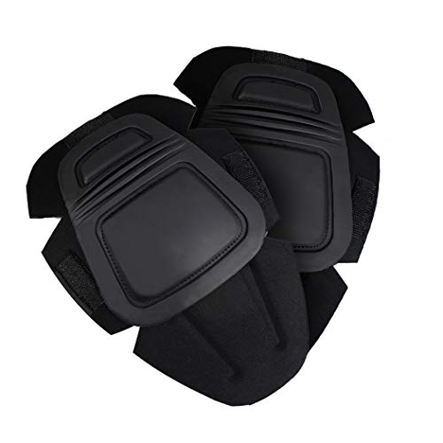 IDOGEAR Tactical Knee Pads G3 Pants Protective Pads for Military Airsoft Hunting Pants (Black)