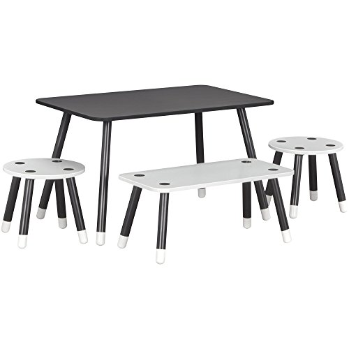 Little Seeds Rowan Valley Play Table Bench Set, Black by Little Seeds