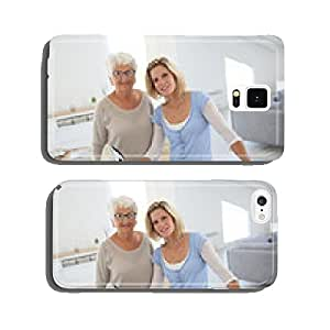 Portrait of senior woman with housekeeper cell phone cover case iPhone6