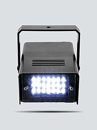 ENUOLI Mini LED Strobe Light Couleur Blanc avec 24 super lumineux LED de contr?le de vitesse variable pour les Clubs de No?l sc/¨/¨ne Effet lumineux Bars DJ Disco Parties Halloween couleur blanche