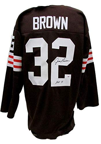 - Jim Brown Cleveland Browns Signed/Autographed HOF 71 Jersey PSA/DNA AB71811
