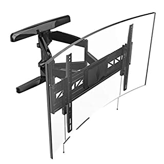 Loctek Curved TV Wall Mount Bracket Heavy Duty for 32-70 inch Articulating Full Motion Tilt Swivel Up to VESA 600x400 110LB