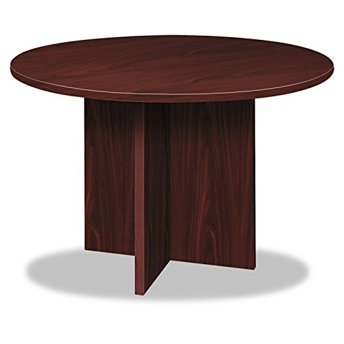 Basyx BLC48DNN BL Laminate Series Round Conference Table, 48 by 29.5-Inch, Mahogany from Basyx