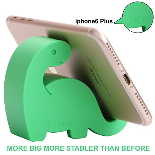 "Plinrise Upstate Dinosaur Shape Cute Cell Phone Mounts Candy Color Creative Ipad Set Material of Silica Ge, Size:2.8"" X 3.1"" X 1.3"", for Iphone Ipad Samsung Phone Tablet Plate Pc (Green)"
