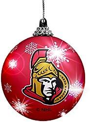 The Sports Vault LED Light UP Ball Ornament Ottawa Senators