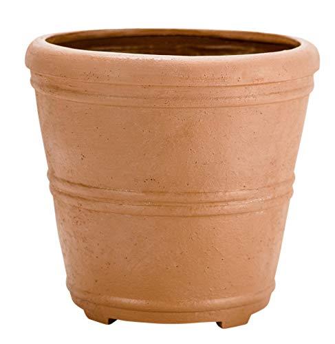 Martha Stewart Garden, Round False Bottom Planter, 12 Inch, Terracotta ()