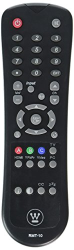 Westinghouse Digital LCD TV Remote Control RMT-10 Supplied with models: SK-26H640G SK-26H730S