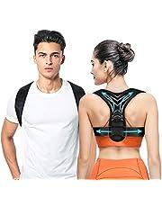 Posture Corrector, Back Straightener for Women & Men - Adjustable Posture Corrector Back Brace - Relief on Neck, Back, Upper Back and Shoulder Pain (Fit 37-49'')